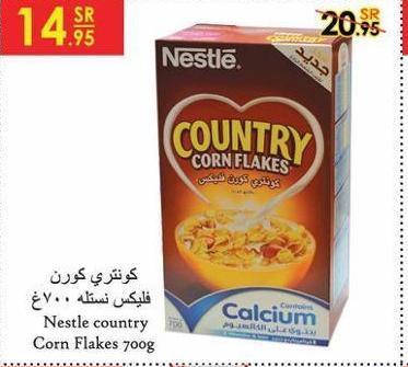 Nestle country Corn Flakes 7oog COUN CORN FLAKES